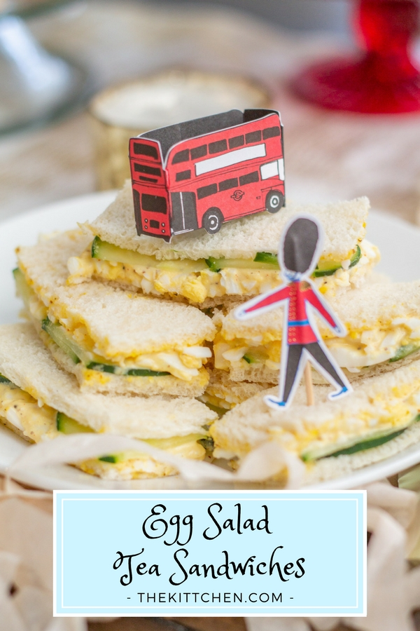 How to make Egg Salad Tea Sandwiches | This simple egg salad sandwich recipe is perfect to serve at an Afternoon Tea, brunch, or bridal shower. It is also a fitting snack to serve at a Royal Wedding Watch Party! #teasandwiches #royalwedding