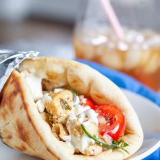 Greek Chicken Pitas and a Greek Food Feast