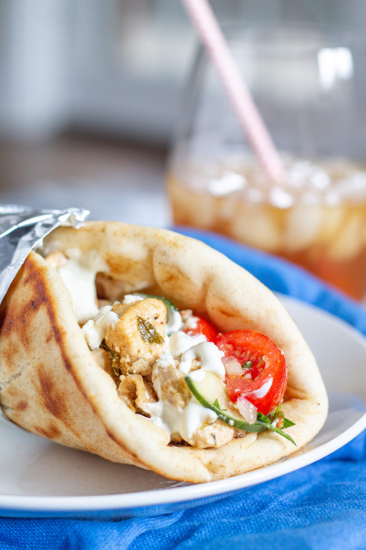 Greek Chicken Pitas and a Greek Food Feast