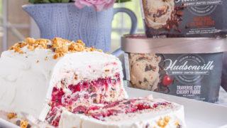 Michigan Cherry and Fudge Ice Cream Icebox Cake