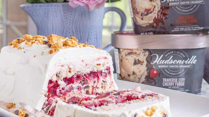 Michigan Cherry and Fudge Ice Cream Icebox Cake
