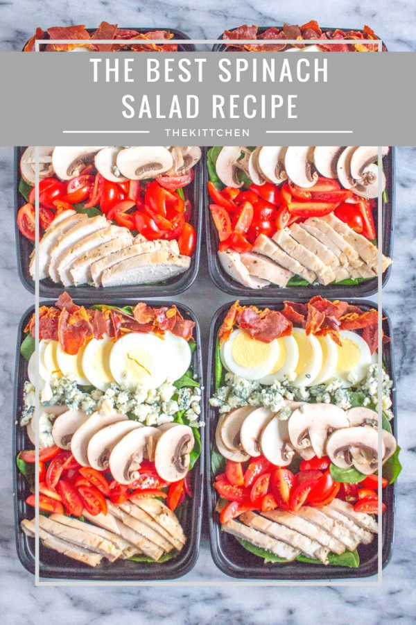 Meal Prep Spinach Salad | A delicious spinach salad that is perfect for meal prepping