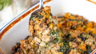 Butternut Squash and Kale Stuffing