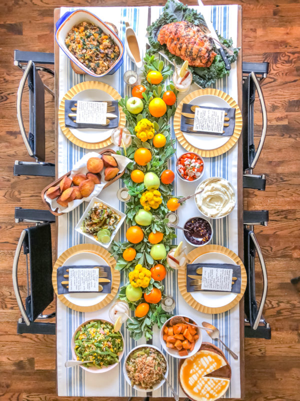 Fresh Fruit Thanksgiving Tablescape 4