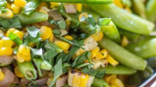 Sugar Snap Pea and Corn Salad