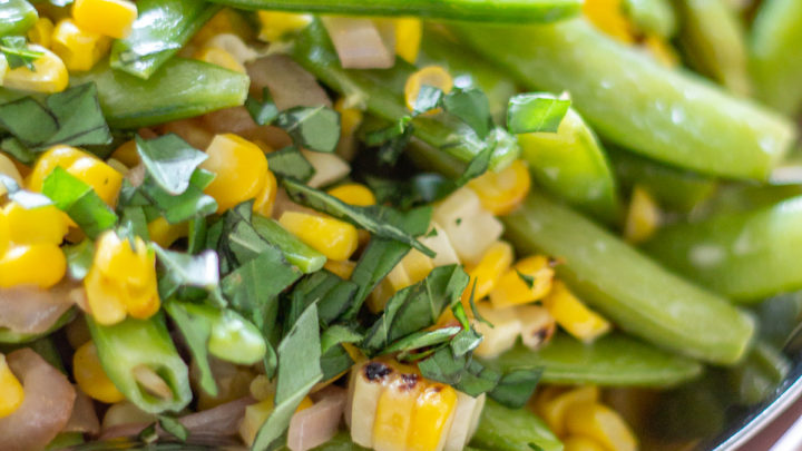 Sugar Snap Pea and Corn Salad
