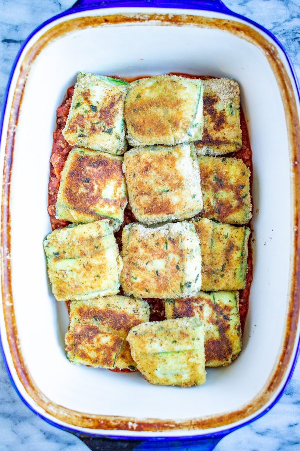 Toasted Zucchini Ravioli | How to make zucchini ravioli filled with spinach and ricotta