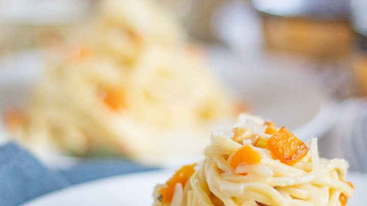 Fall Pasta with Goat Cheese, Sage, and Butternut Squash