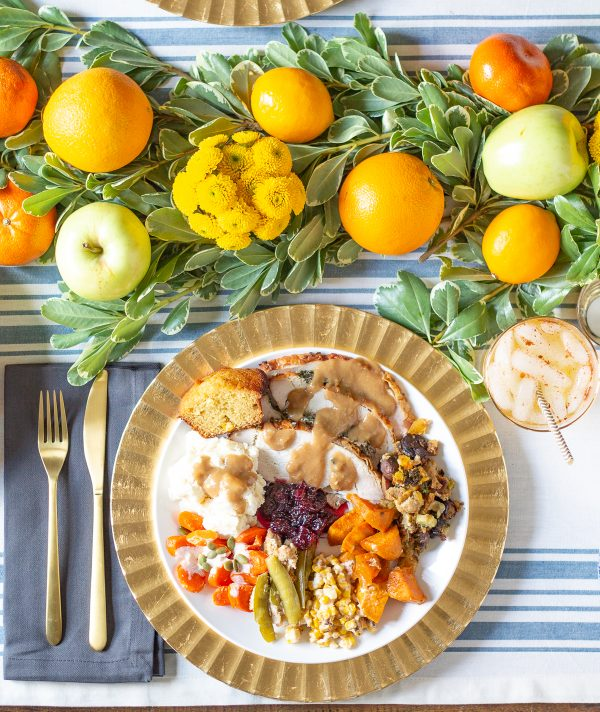 Thanksgiving Dinner Plate - How to cook a turkey breast