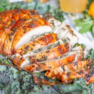 Mushroom Spinach Stuffed Turkey Breast