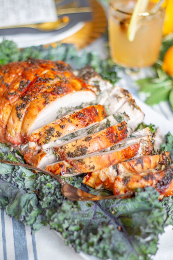 Mushroom Spinach Stuffed Turkey Breast | This Mushroom Spinach Stuffed Turkey Breast is a fun alternative to serving a whole turkey at #Thanksgiving or #Christmas.