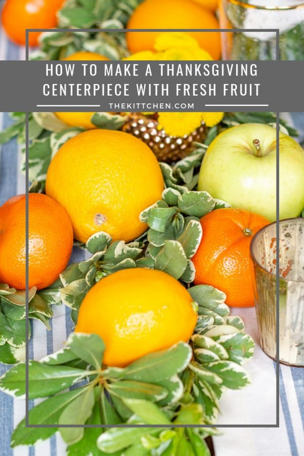 Fresh Fruit Table Setting for Thanksgiving | Learn how to combine greens with fresh fruit to create a festive Thanksgiving tablescape!