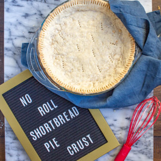No Roll Pie Crust Recipe | Shortbread Pie Crust