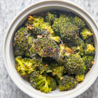 Miso Garlic Roasted Broccoli