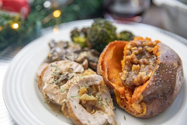 Caramelized onion and blue cheese stuffed pork tenderloin is a meal bursting with rich flavors that is perfect for a special occasion or holiday meal.