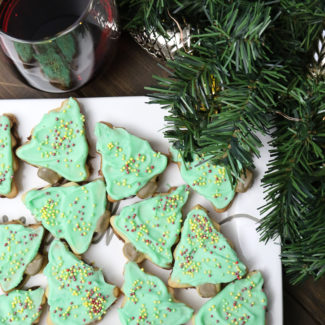 Christmas Tree Sugar Cookie Sandwiches