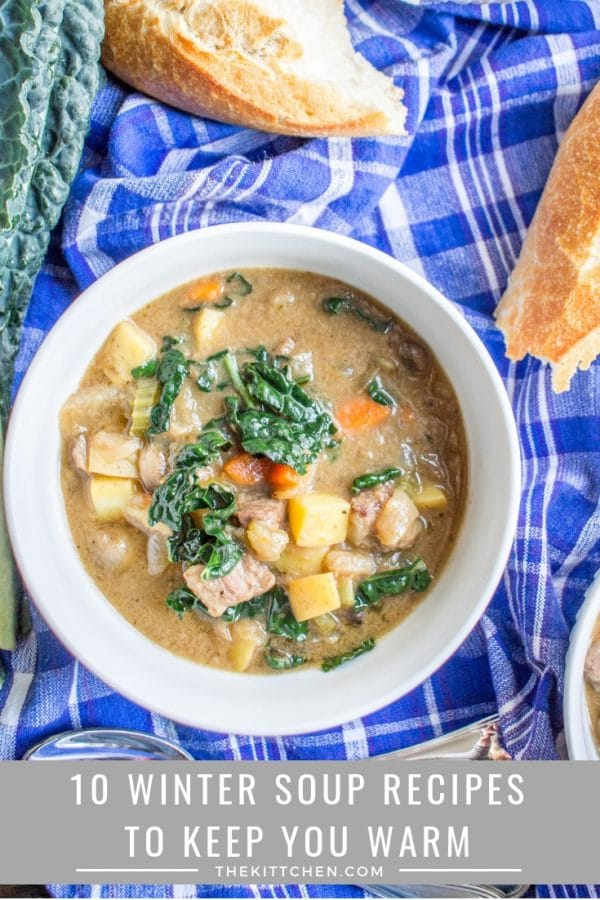 Winter Soup Recipes | These 10 winter soup recipes will keep you warm and full on even the coldest day. #soup