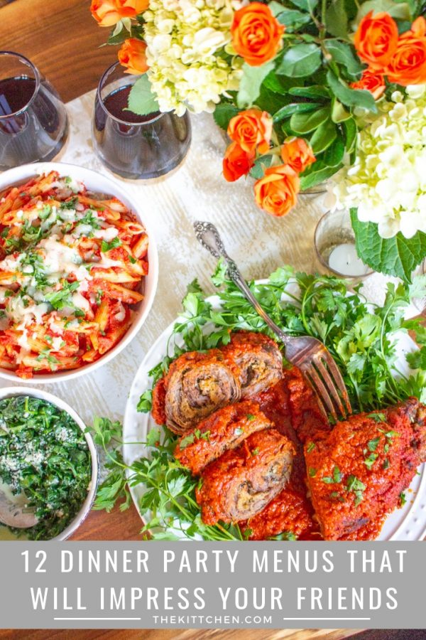 12 Dinner Party Menu Ideas | These 12 dinner party menu ideas break down what to serve including cocktails, appetizers, entrees, sides, and desserts.