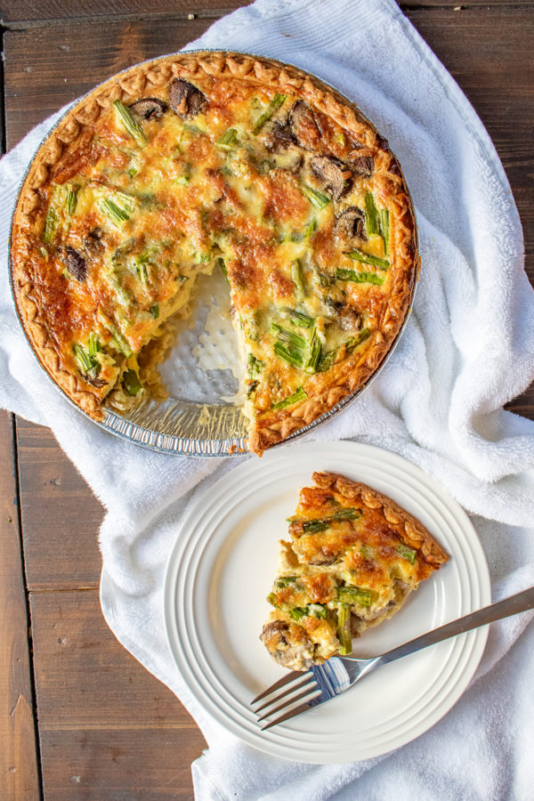 Learn how to make quiche with this basic quiche recipe. Customize it to include your favorite meats, vegetables, and cheeses.