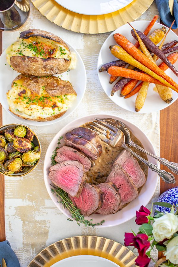 Beef Tenderloin with a Sherry Mushroom Gravy | This 45-minute beef tenderloin recipe has a rich and delicious mushroom sherry gravy with just a touch of cream.
