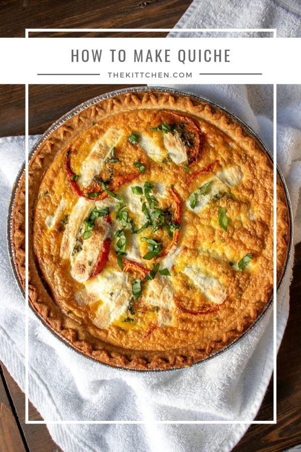 How to Make Quiche   Learn how to make quiche - with just 5 minutes of active preparation time. #quiche