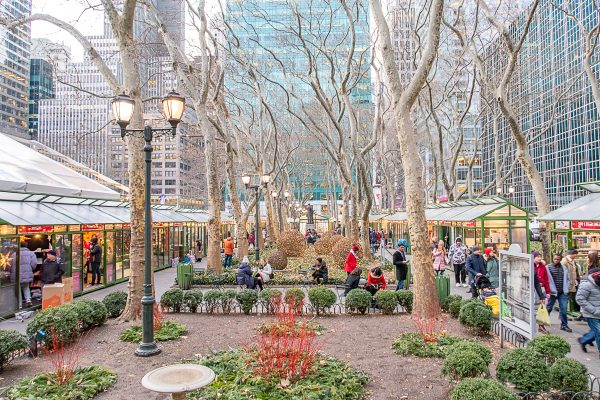 Christmas in NYC | What to do in New York City at Christmastime : Winter Village at Bryant Park
