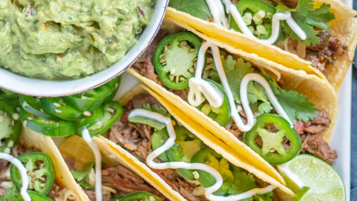 Slow Cooker Shredded Beef Tacos and a Visit to Family Farm Meats