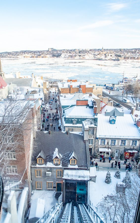 Things to do in Quebec City | A guide of what to do in Quebec City in Winter: Ride the Funicular