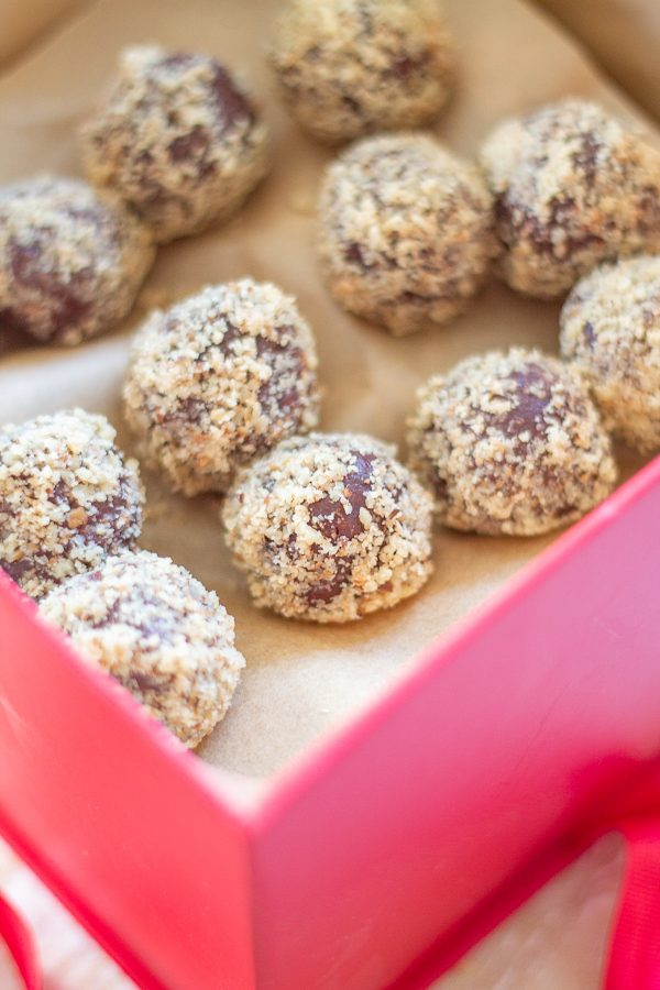 Chocolate Truffles Stuffed with Cookie Dough| Let me teach you how to make truffles just in time for Valentine's Day. These Chocolate Truffles Stuffed with Cookie Dough are a delicious homemade gift, and they are easier to make than you think!