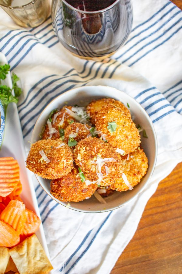 Italian Croquettes | These easy to make Italian Croquettes have a crispy crunchy cheese and breadcrumb crust and are filled with Parmesan and Prosciutto. They are a great snack or appetizer! #croquettes