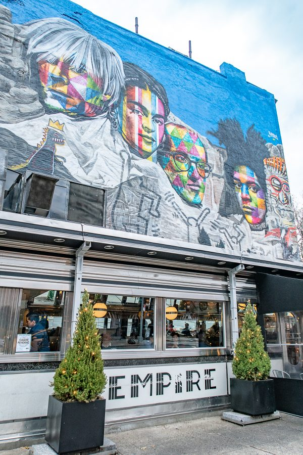 What to do in Greenwich Village and Chelsea | A NYC neighborhood travel guide - Empire Diner and Mural Chelsea