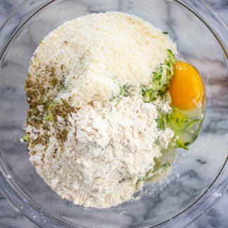 How to make Gluten Free Zucchini Pizza Crust - Preparing the dough