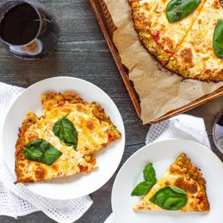 Gluten Free Zucchini Pizza Crust