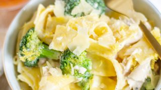 Chicken and Broccoli Pasta with a Goat Cheese Sauce