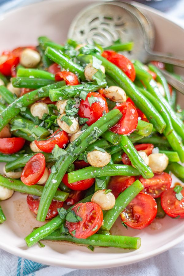 Green Bean and Tomato Salad | This colorful green bean and tomato salad can be served as a light meal or a side dish.