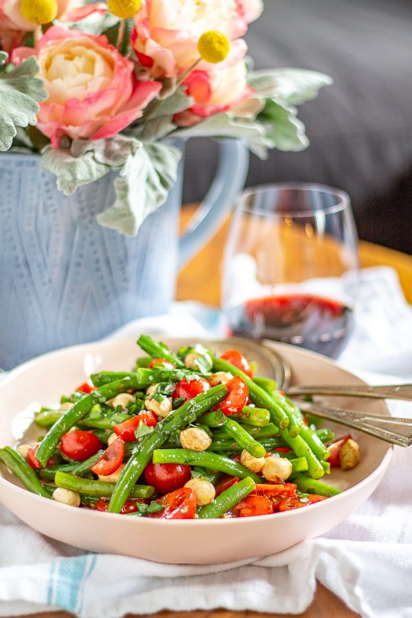 Green Bean and Tomato Salad | An quick and easy lunch recipe