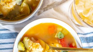 Italian Vegetable Soup with Dumplings