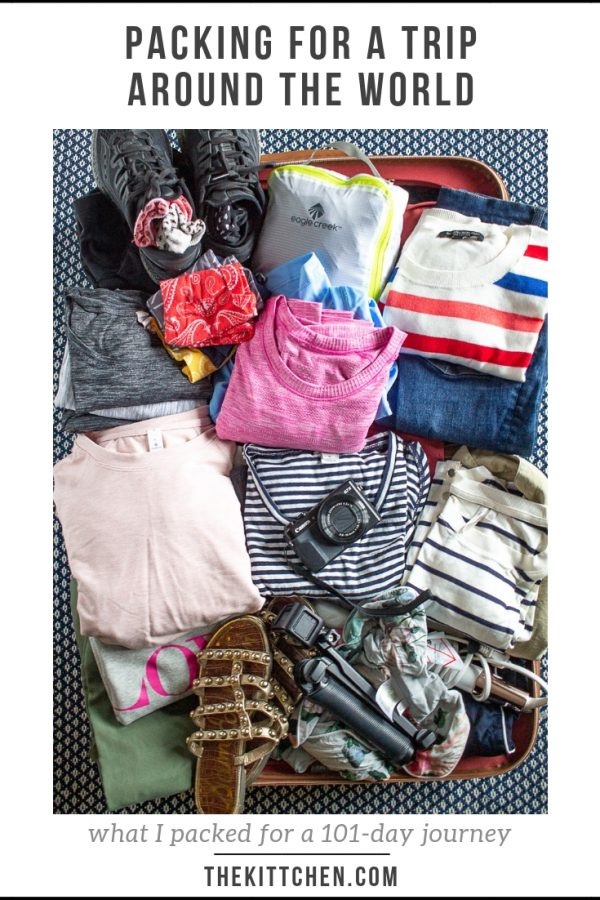 What To Pack For A Trip Around The World | My complete packing list of my 101-day, 10 country, 5 continent journey.
