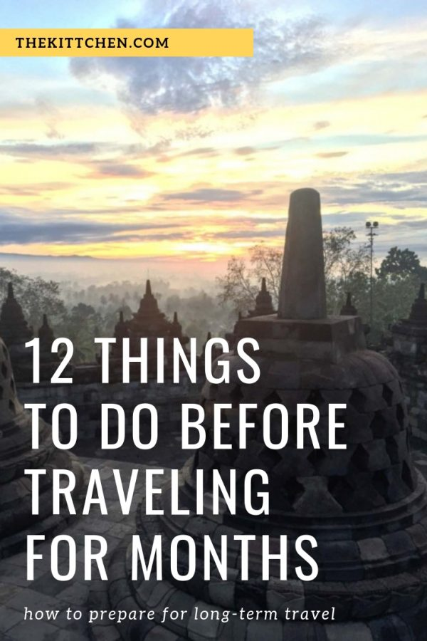 12 Things To Do Before Traveling for Months | A guide of what to do before you leave home to travel long term