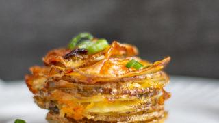 Bacon Cheddar Ranch Potato Stacks