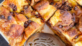 Chocolate Chip Cookie Bread Pudding
