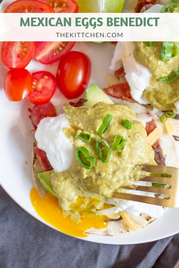 Mexican Eggs Benedict uses classic Mexican ingredients to create a fun twist on Eggs Benedict. It's a restaurant-style brunch that you can easily make at home.