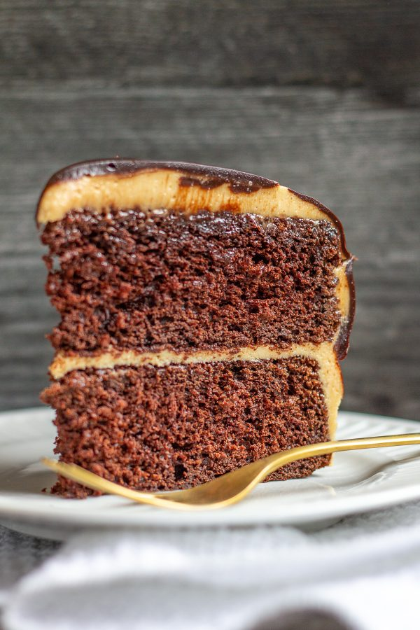 Chocolate Cake with Peanut Butter Frosting Recipe