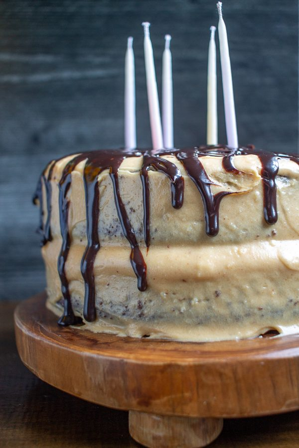 Chocolate Cake with Peanut Butter Frosting | How to turn cake mix into something special