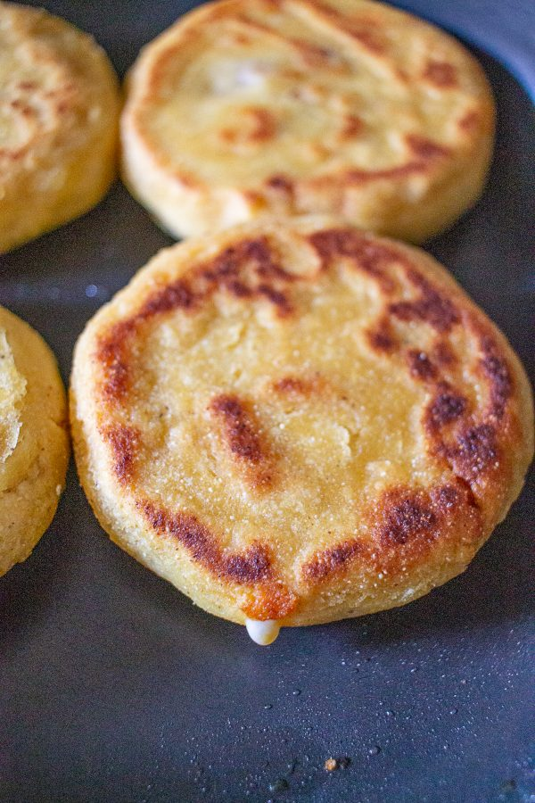 Pupusas | Salvadorian masa flatbread filled with cheese, beans, and meat