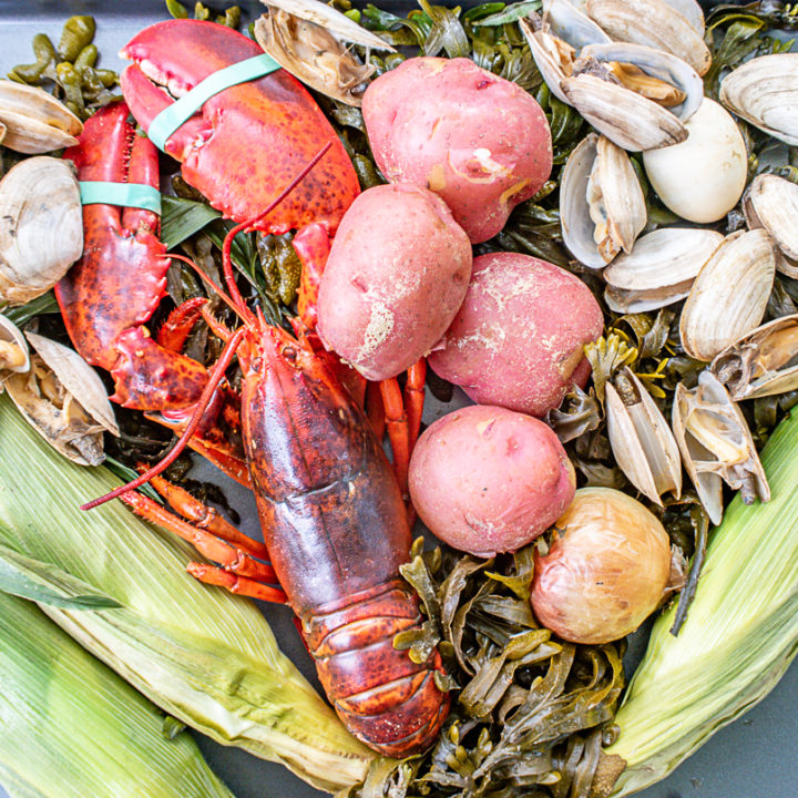 A Traditional Maine Lobster Bake in a Pot
