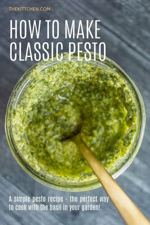 Learn how to make pesto with this easy recipe for classic pesto!