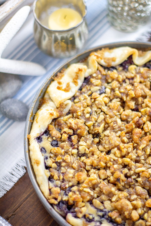 Blueberry Goat Cheese Basil Pie Recipe 4