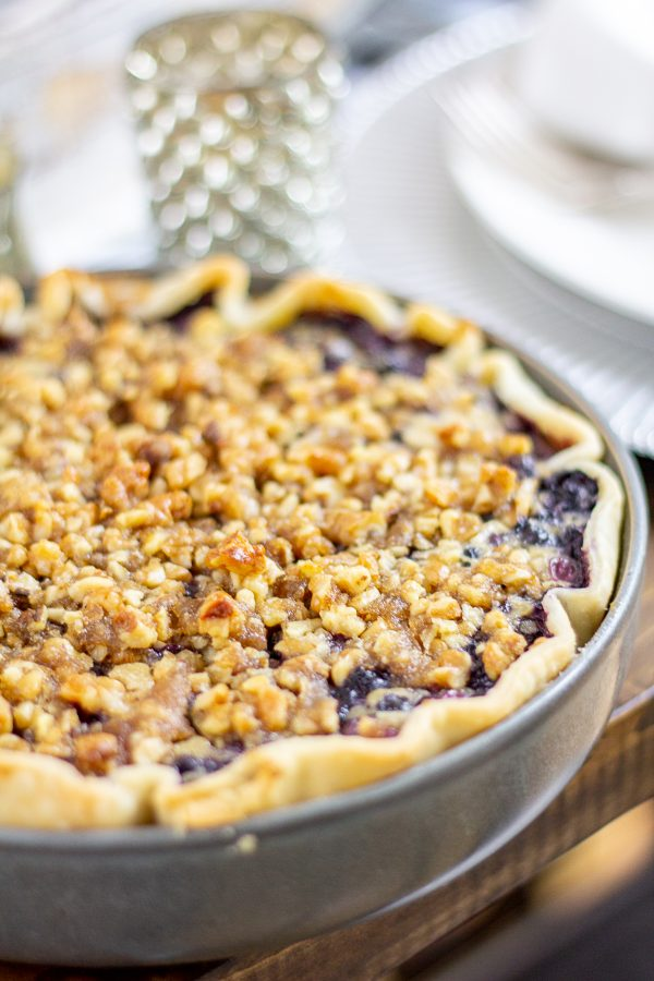 Blueberry Goat Cheese Basil Pie Recipe