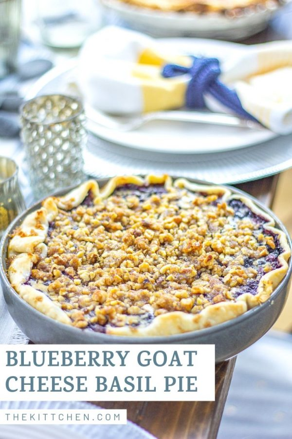 If blueberry pie and cheesecake had a baby, it would be this Blueberry, Goat Cheese, and Basil Pie.